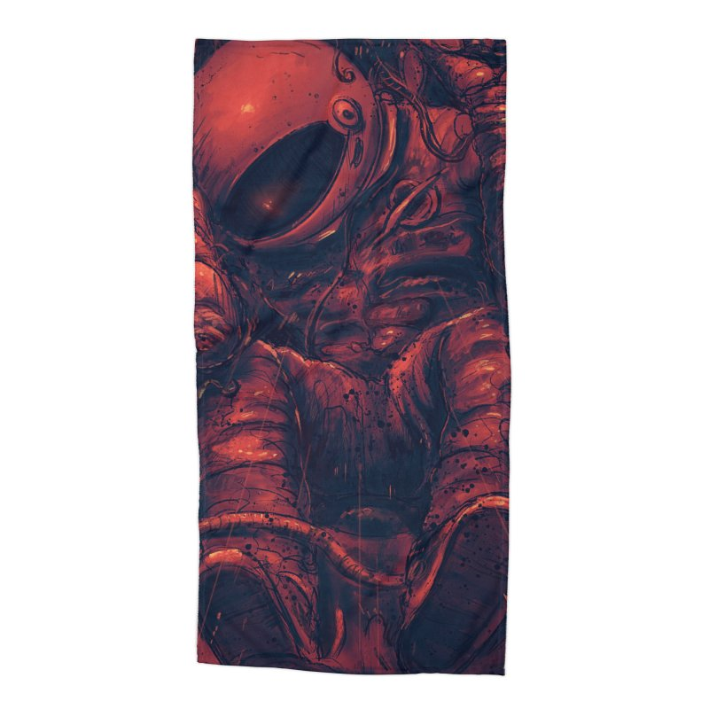 Trapped Accessories Beach Towel by nicebleed