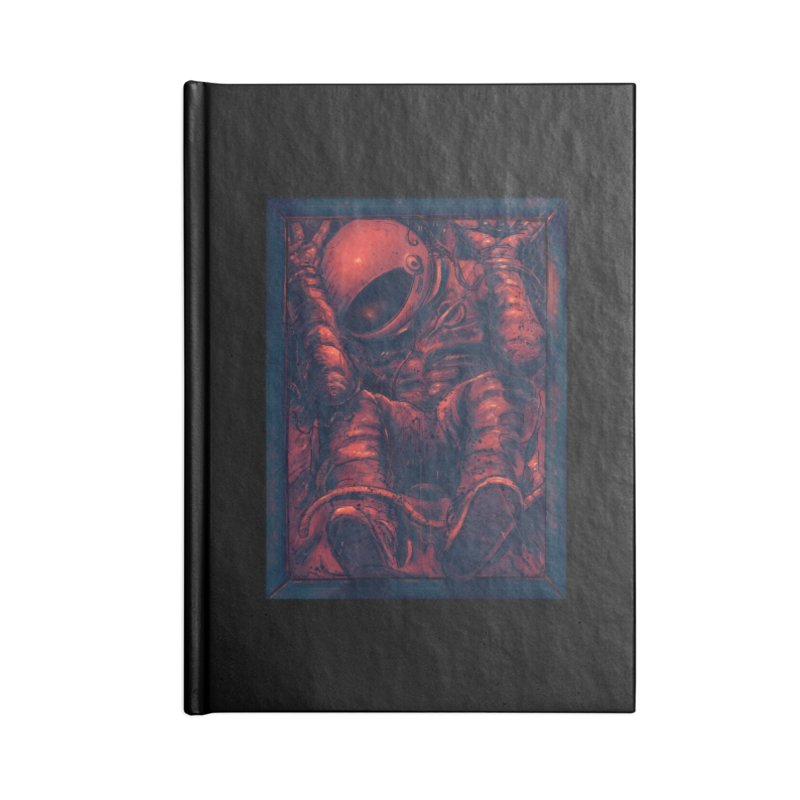 Trapped Accessories Lined Journal Notebook by nicebleed