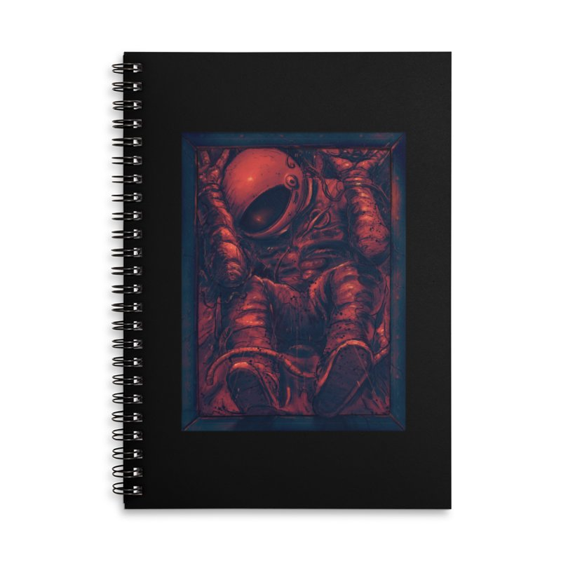 Trapped Accessories Lined Spiral Notebook by nicebleed