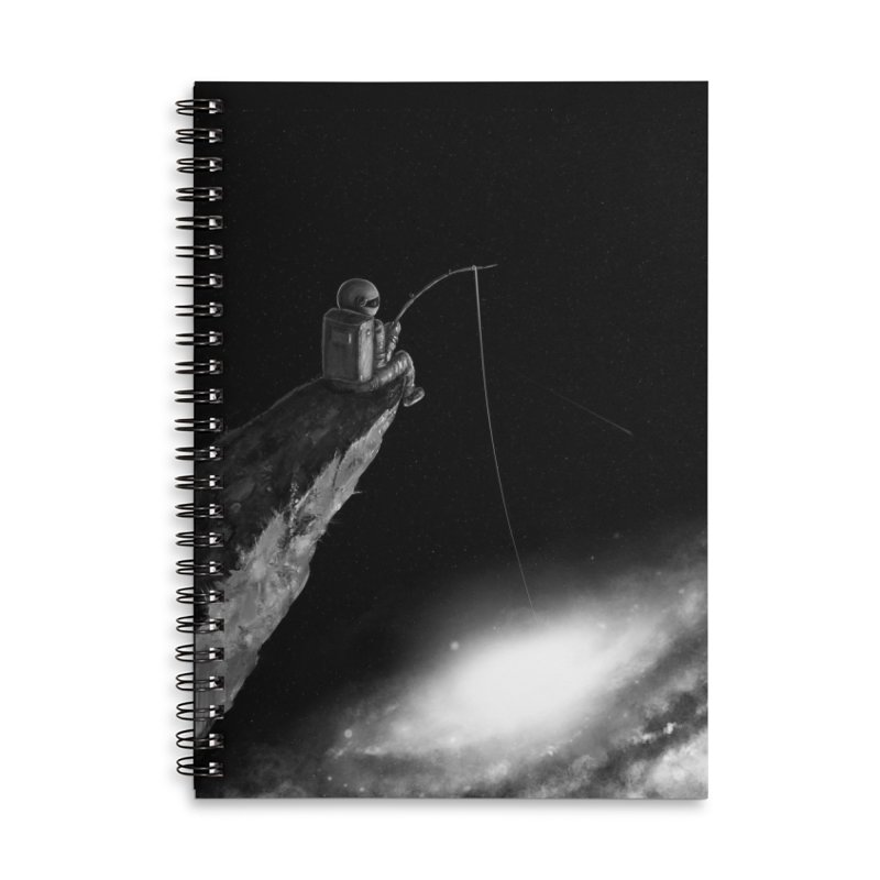 Star Fishing Accessories Lined Spiral Notebook by nicebleed