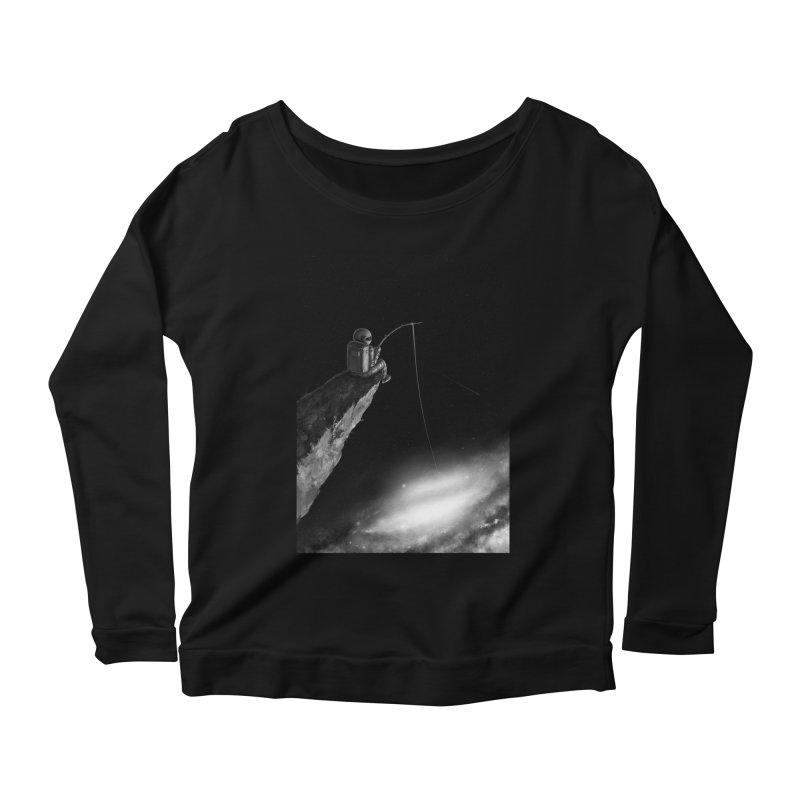 Star Fishing Women's Scoop Neck Longsleeve T-Shirt by nicebleed