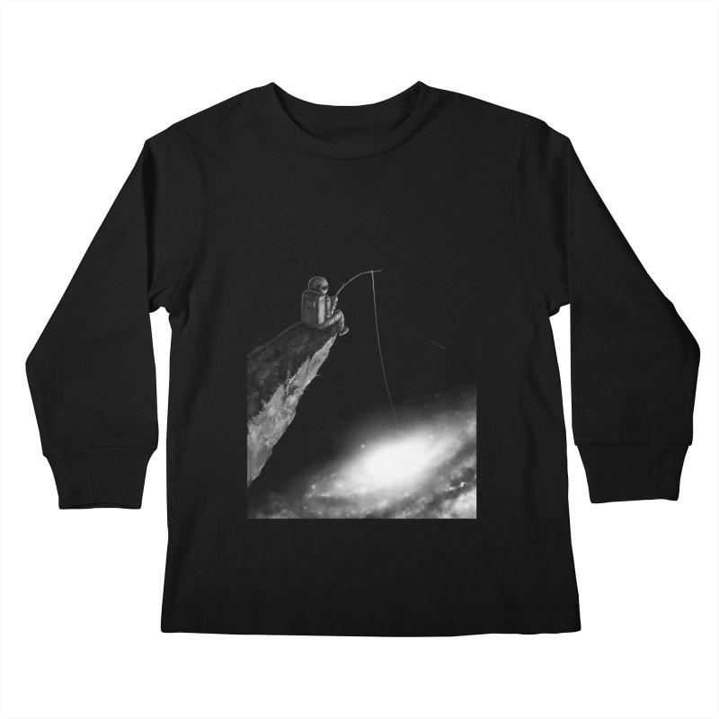 Star Fishing Kids Longsleeve T-Shirt by nicebleed