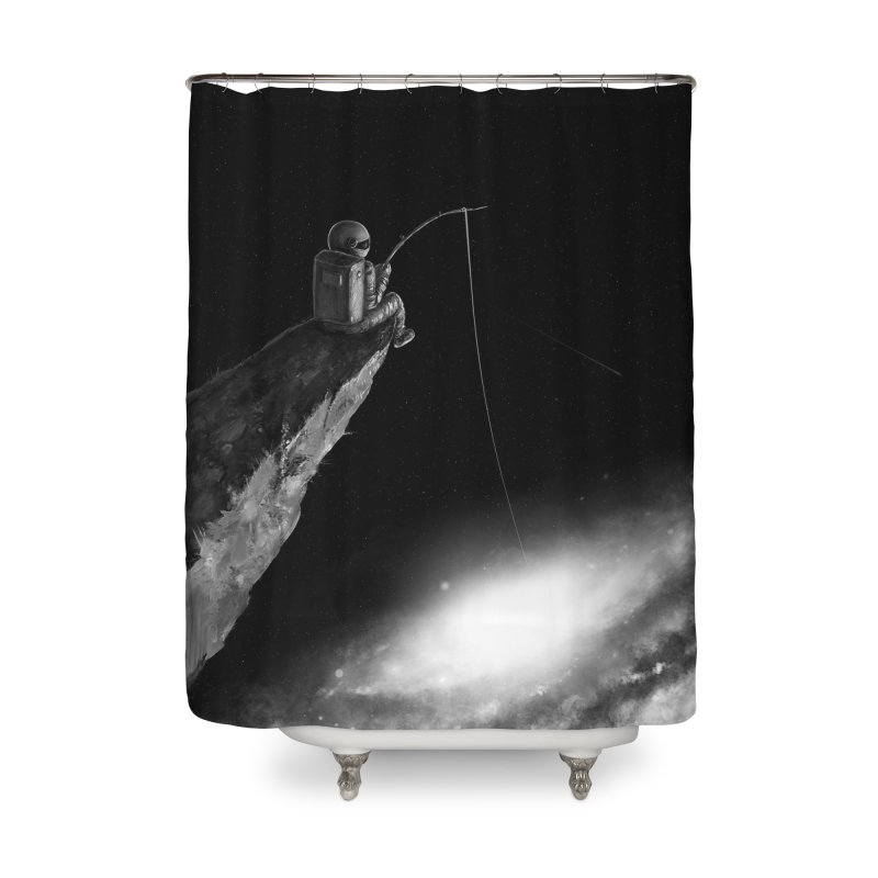 Star Fishing Home Shower Curtain by nicebleed