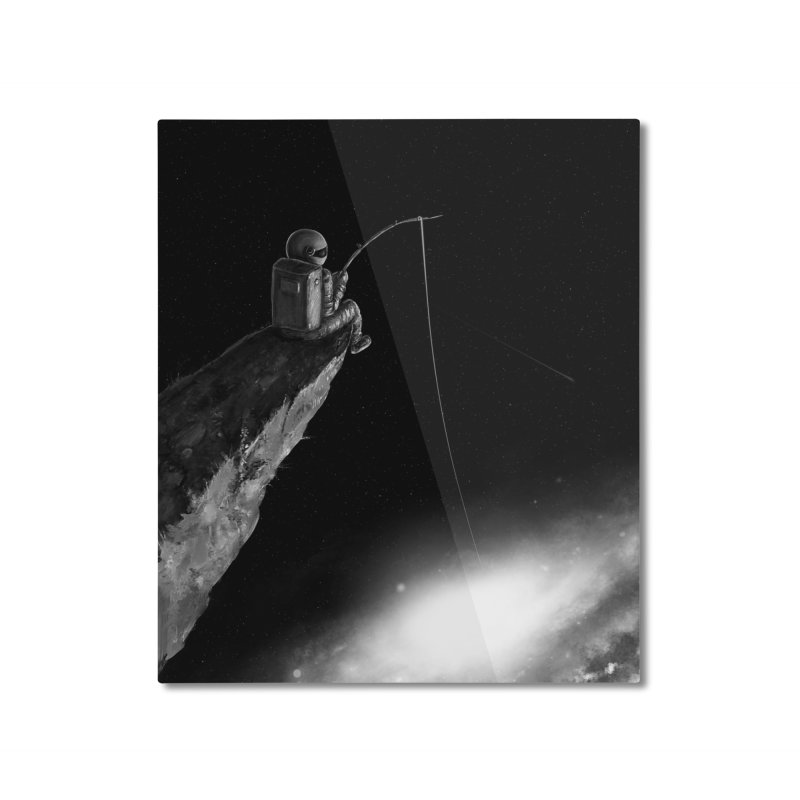 Star Fishing Home Mounted Aluminum Print by nicebleed