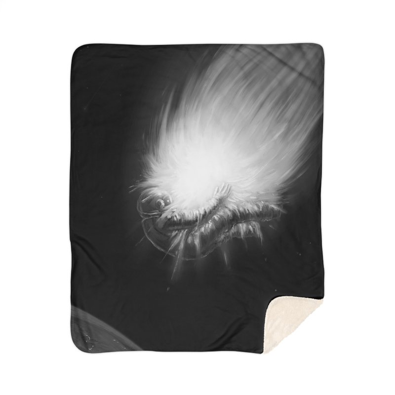 Asteroid Blast Home Sherpa Blanket Blanket by nicebleed