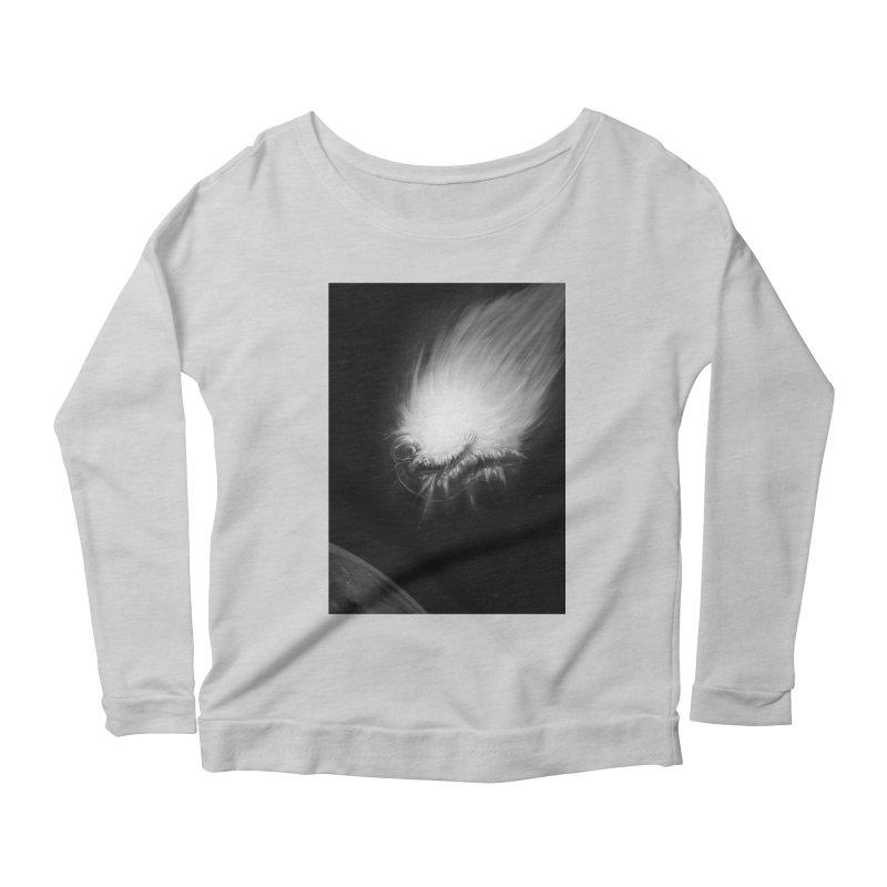 Asteroid Blast Women's Scoop Neck Longsleeve T-Shirt by nicebleed