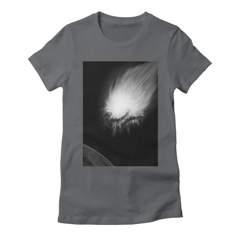 Asteroid Blast Women's Fitted T-Shirt by nicebleed