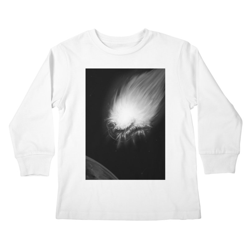 Asteroid Blast Kids Longsleeve T-Shirt by nicebleed
