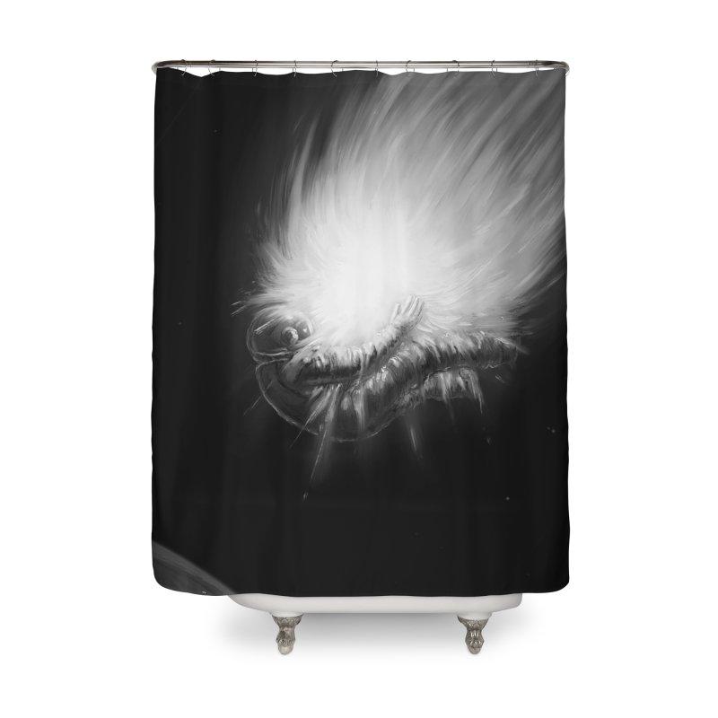 Asteroid Blast Home Shower Curtain by nicebleed