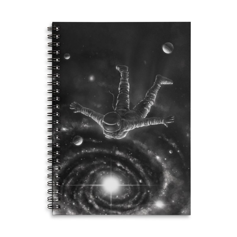 Space Diving II Accessories Lined Spiral Notebook by nicebleed