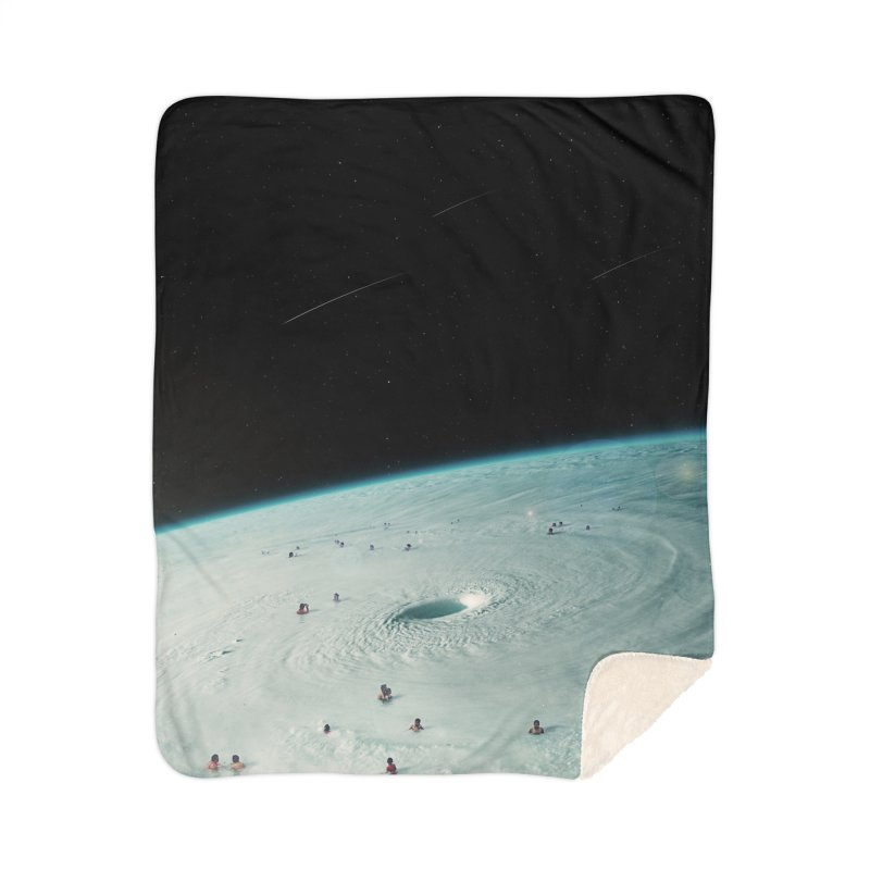 Hurricane Bath Home Sherpa Blanket Blanket by nicebleed