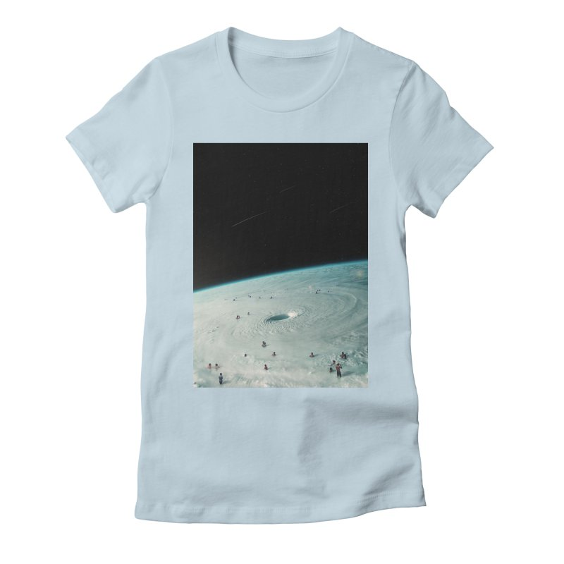 Hurricane Bath Women's Fitted T-Shirt by nicebleed