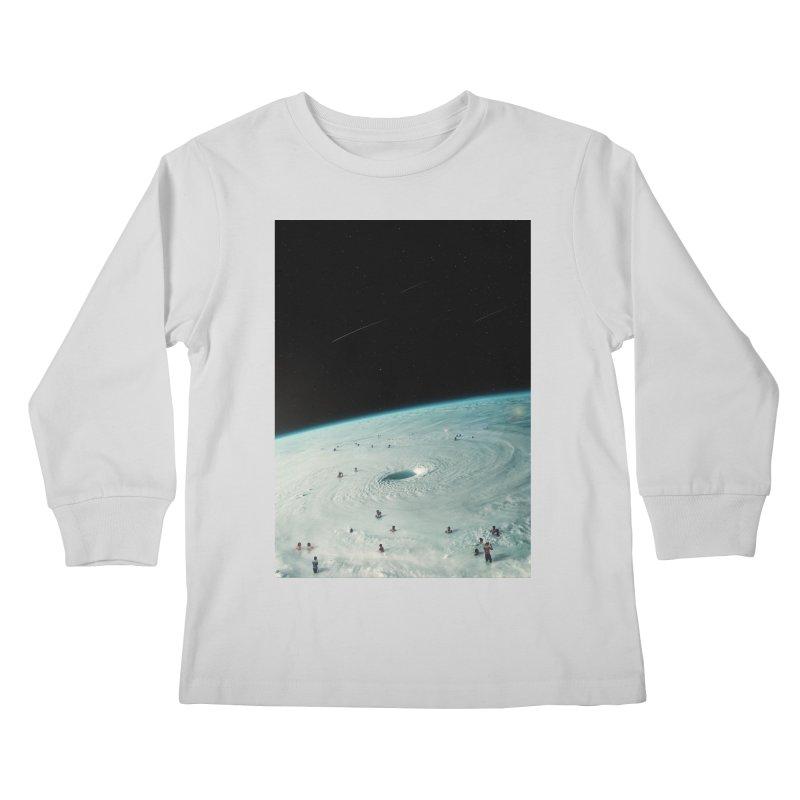 Hurricane Bath Kids Longsleeve T-Shirt by nicebleed