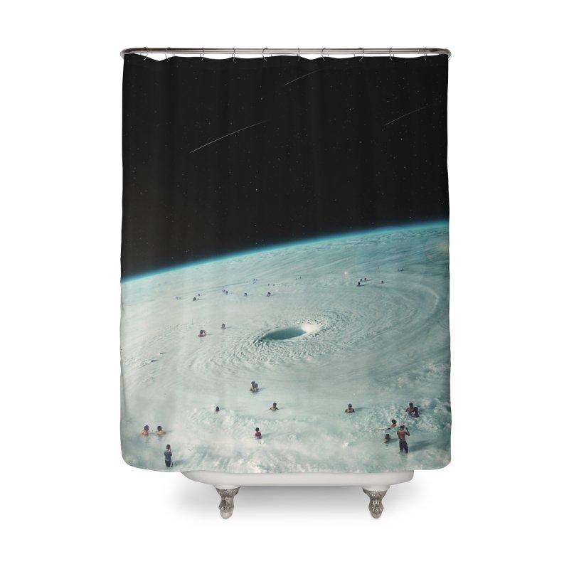 Hurricane Bath Home Shower Curtain by nicebleed