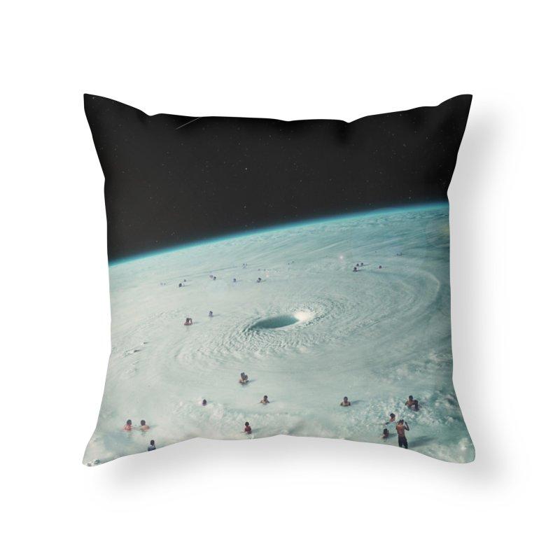 Hurricane Bath Home Throw Pillow by nicebleed