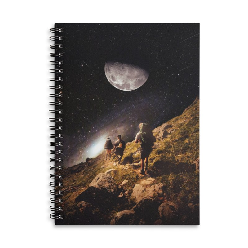 Traverse Accessories Lined Spiral Notebook by nicebleed