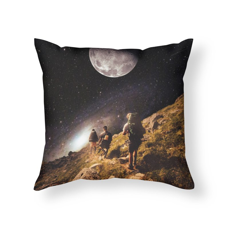 Traverse Home Throw Pillow by nicebleed