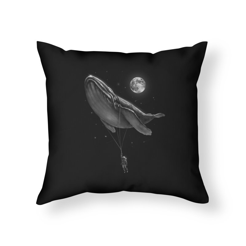 Hitching A Ride Home Throw Pillow by nicebleed