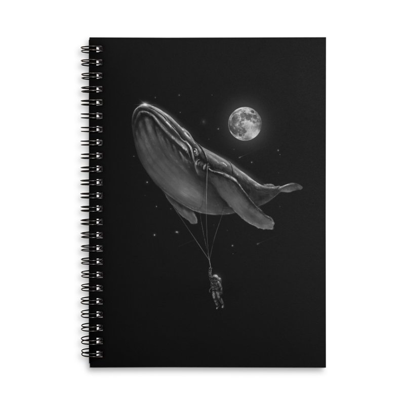 Hitching A Ride Accessories Lined Spiral Notebook by nicebleed