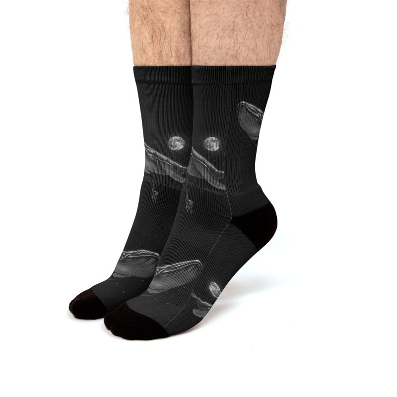Hitching A Ride Men's Socks by nicebleed