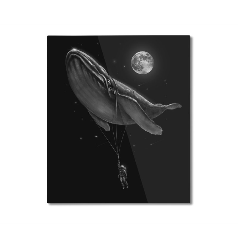 Hitching A Ride Home Mounted Aluminum Print by nicebleed