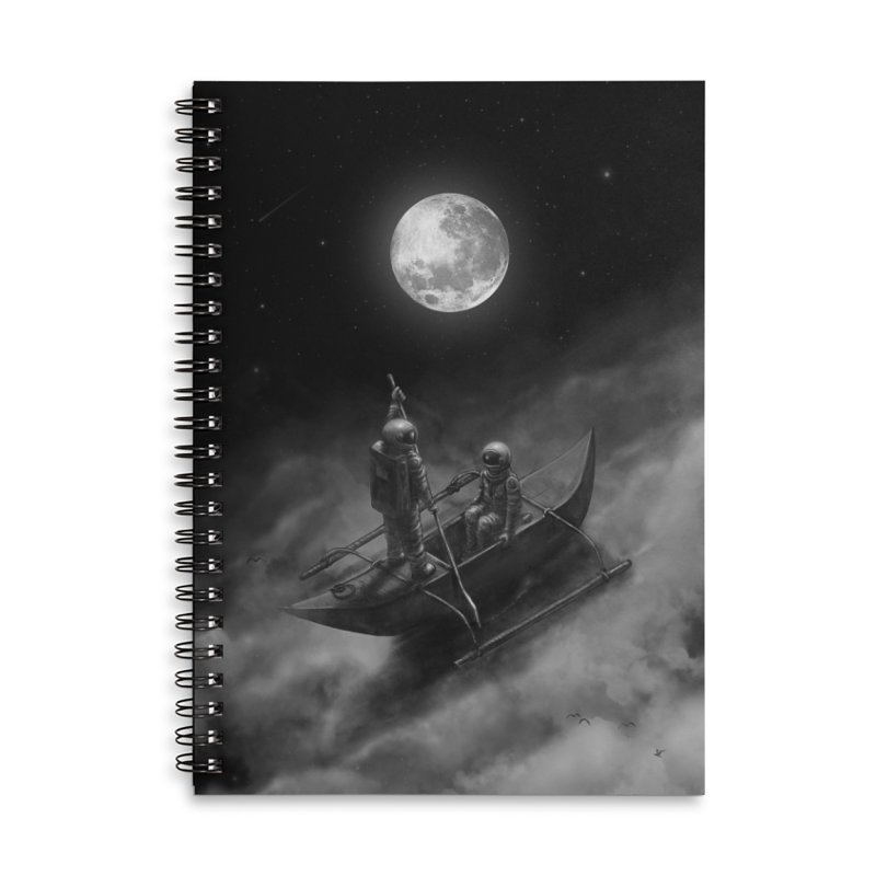 Anywhere With You Accessories Lined Spiral Notebook by nicebleed