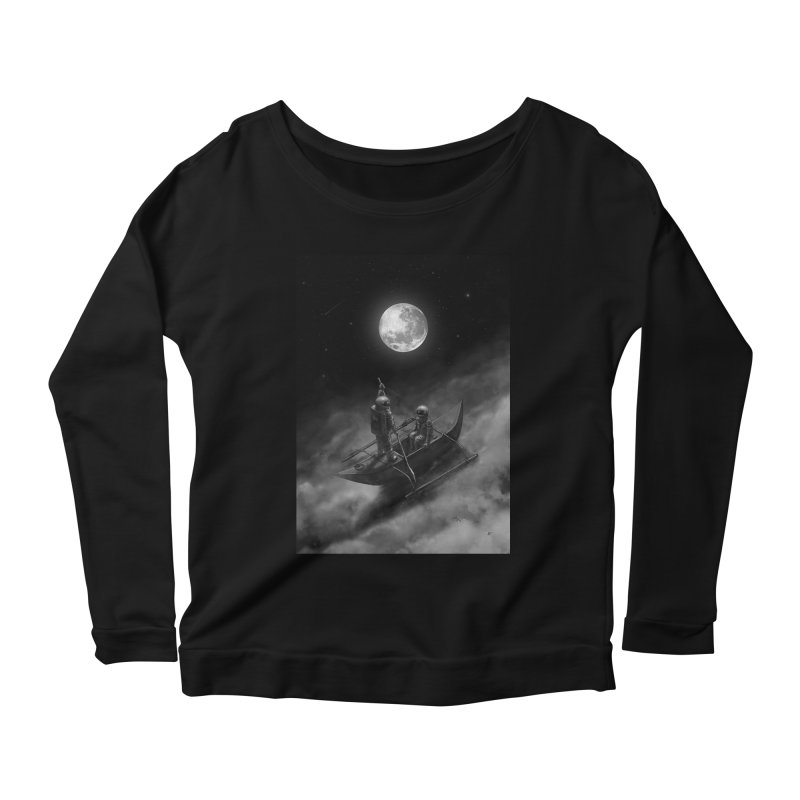 Anywhere With You Women's Scoop Neck Longsleeve T-Shirt by nicebleed