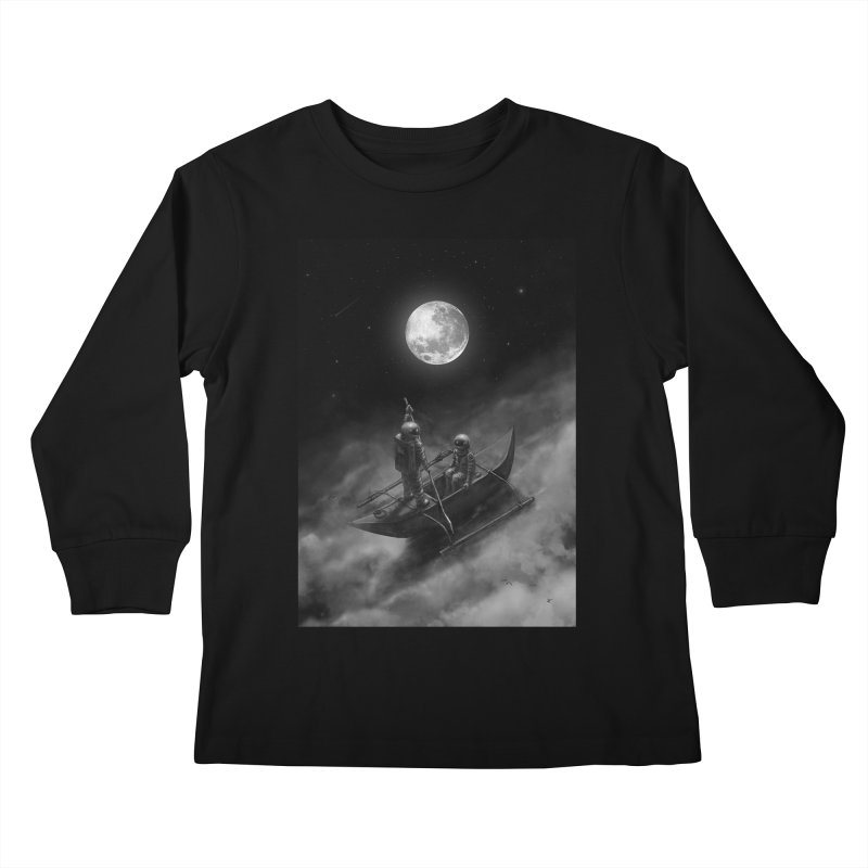 Anywhere With You Kids Longsleeve T-Shirt by nicebleed