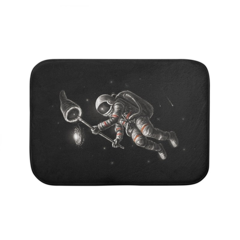 Catching A Galaxy Home Bath Mat by nicebleed