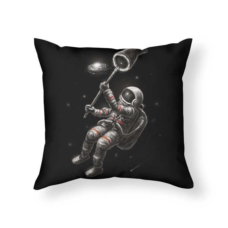 Catching A Galaxy Home Throw Pillow by nicebleed