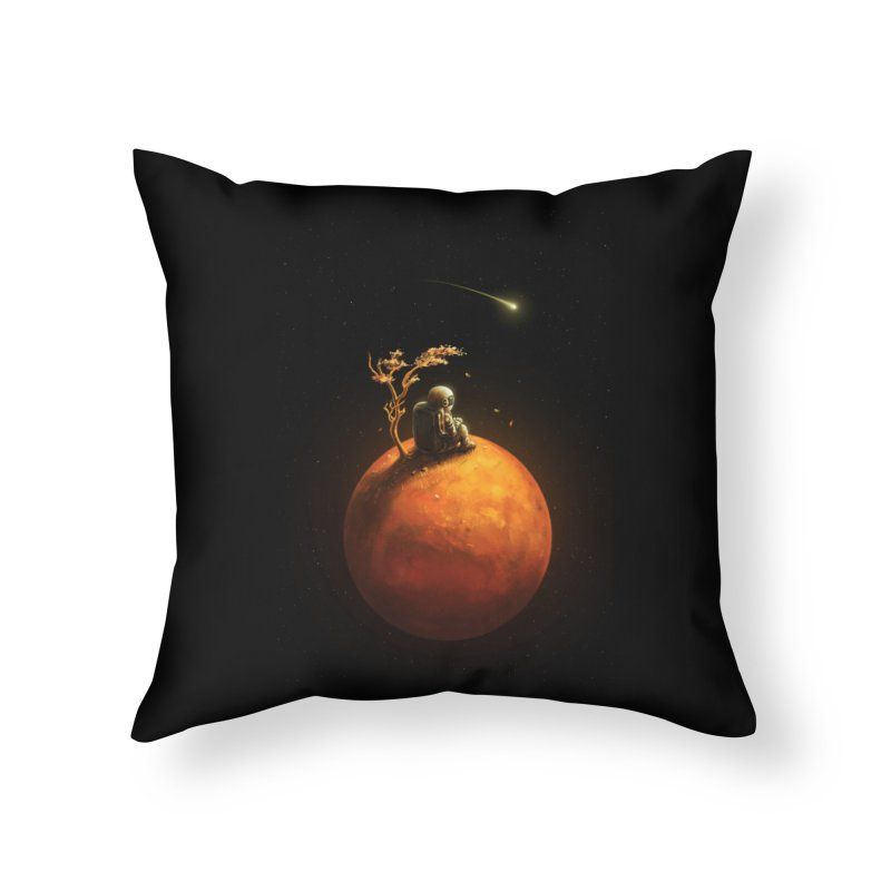 Stranded Home Throw Pillow by nicebleed