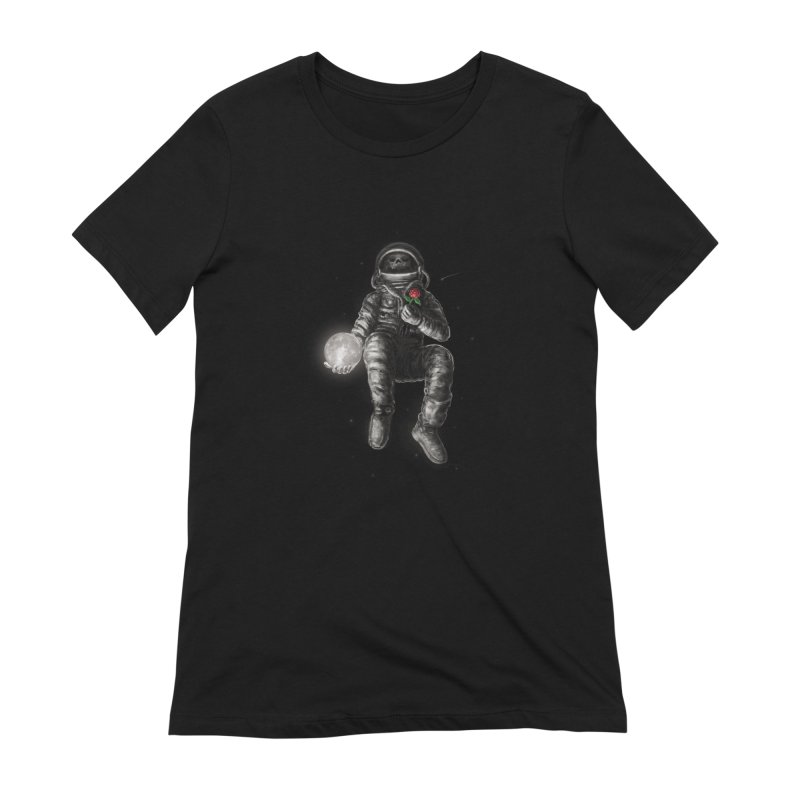 Moon and Back Women's Extra Soft T-Shirt by nicebleed