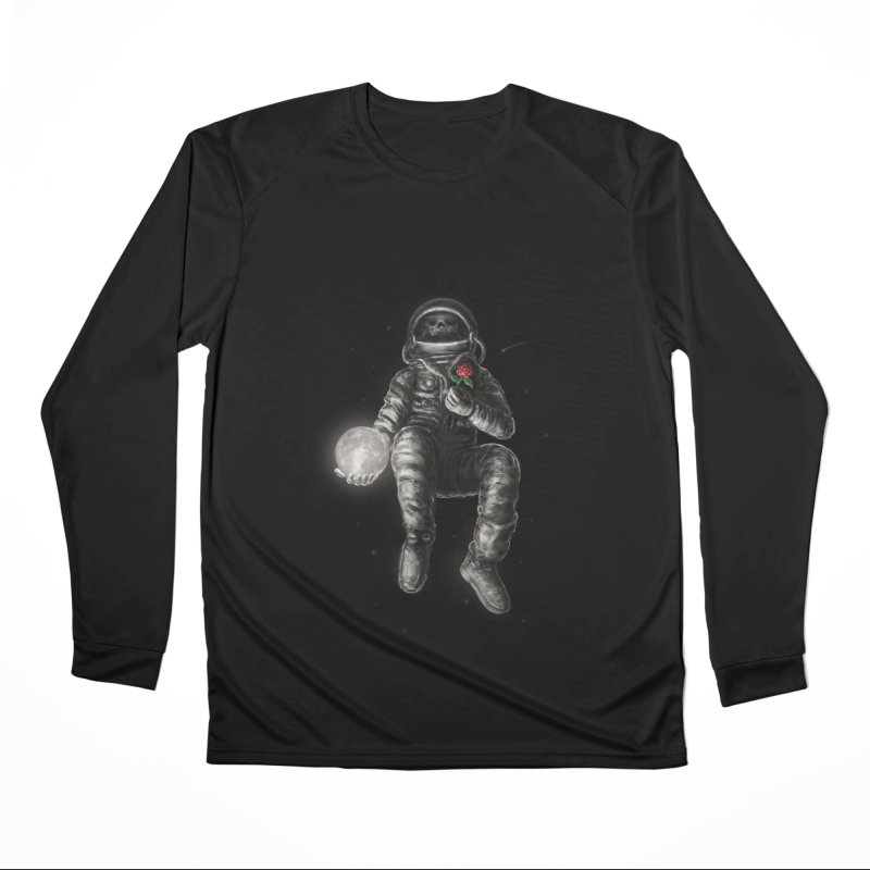 Moon and Back Women's Performance Unisex Longsleeve T-Shirt by nicebleed