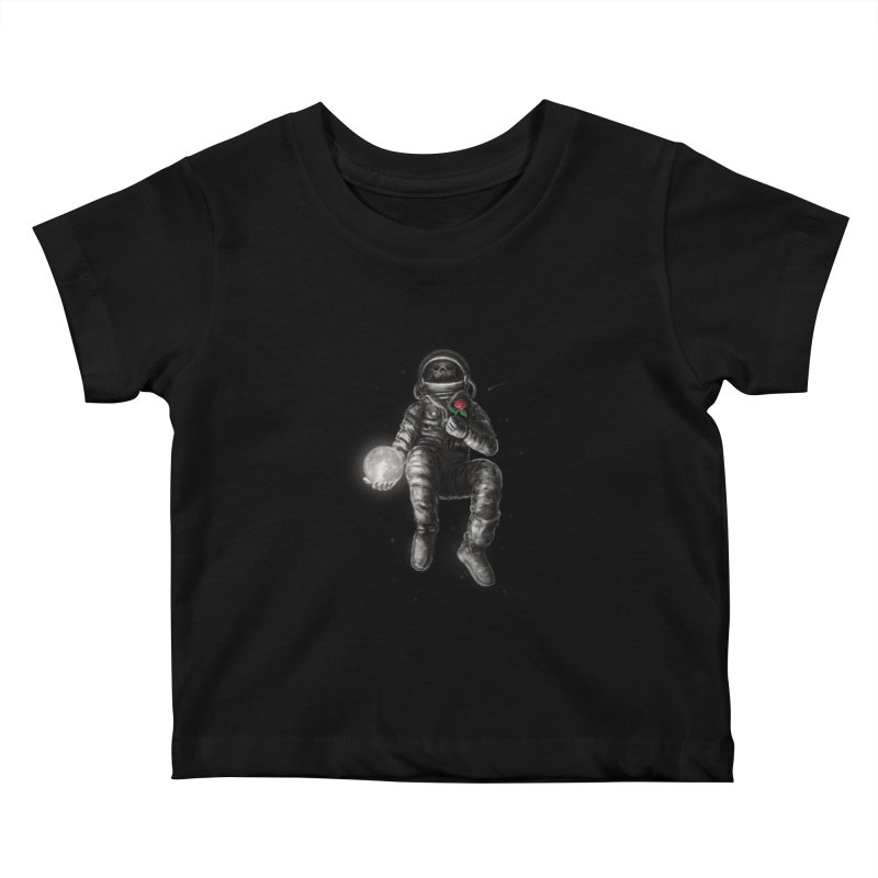 Moon and Back Kids Baby T-Shirt by nicebleed
