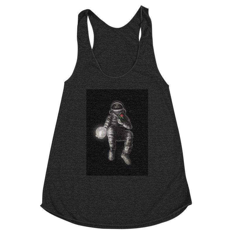 Moon and Back Women's Racerback Triblend Tank by nicebleed