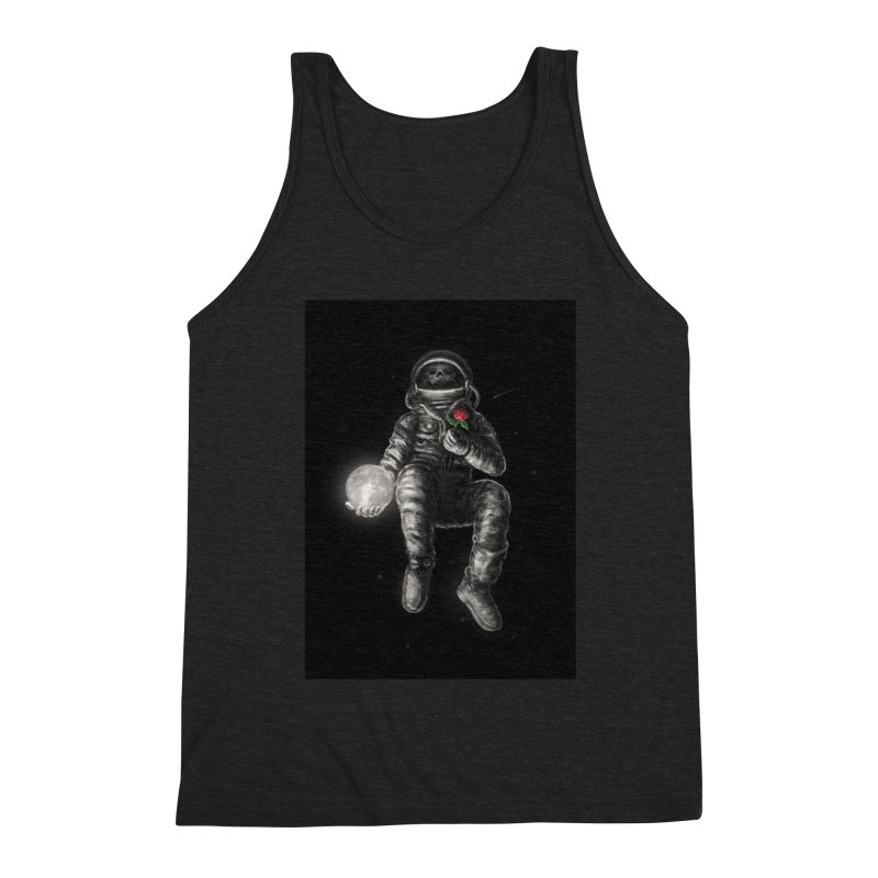 Moon and Back Men's Triblend Tank by nicebleed