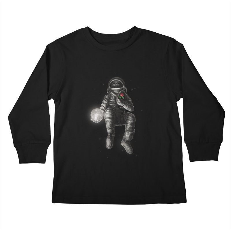 Moon and Back Kids Longsleeve T-Shirt by nicebleed