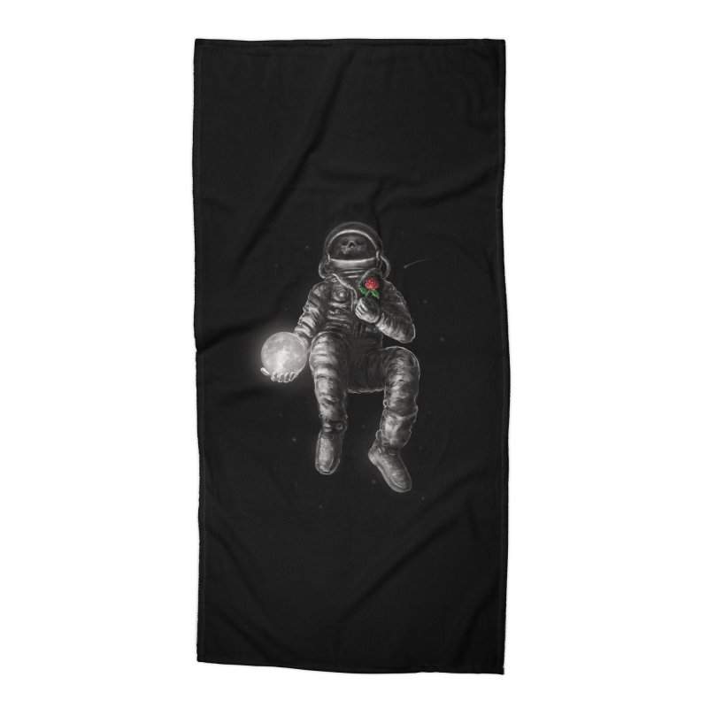 Moon and Back Accessories Beach Towel by nicebleed