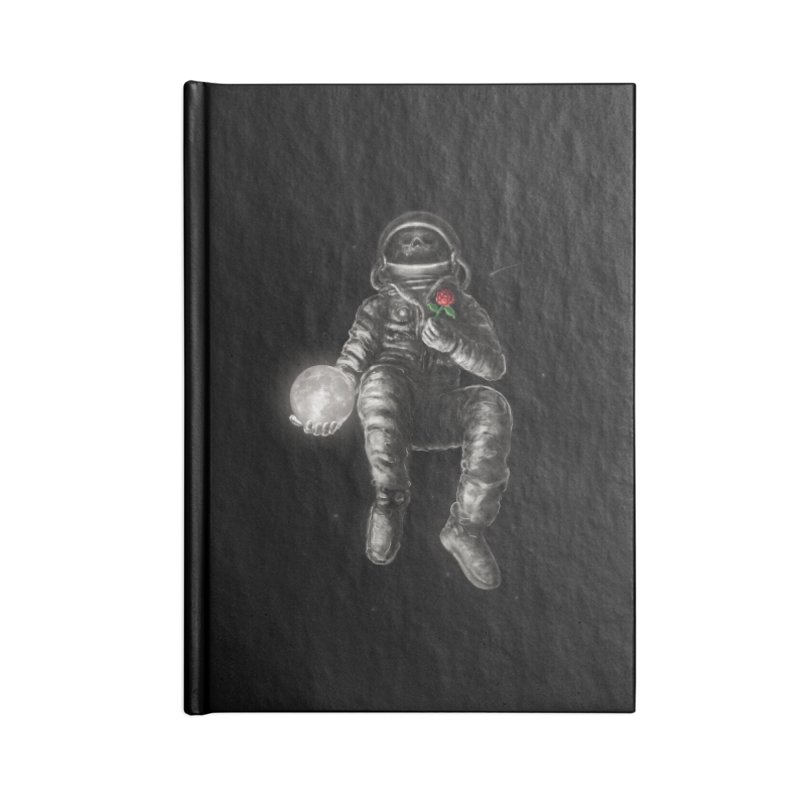 Moon and Back Accessories Lined Journal Notebook by nicebleed