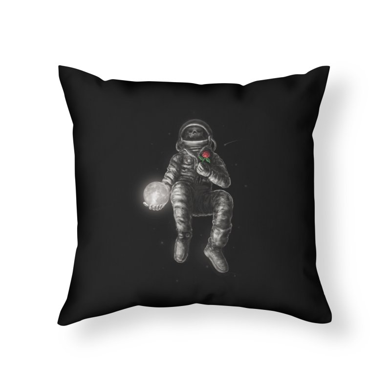 Moon and Back Home Throw Pillow by nicebleed