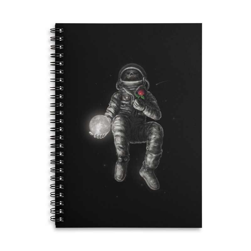 Moon and Back Accessories Lined Spiral Notebook by nicebleed