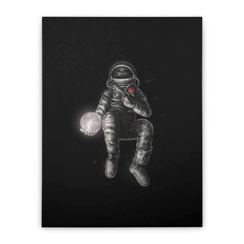 Moon and Back Home Stretched Canvas by nicebleed