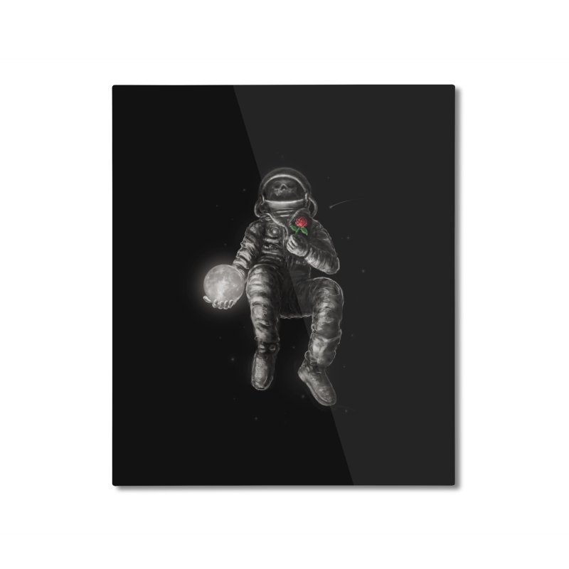 Moon and Back Home Mounted Aluminum Print by nicebleed