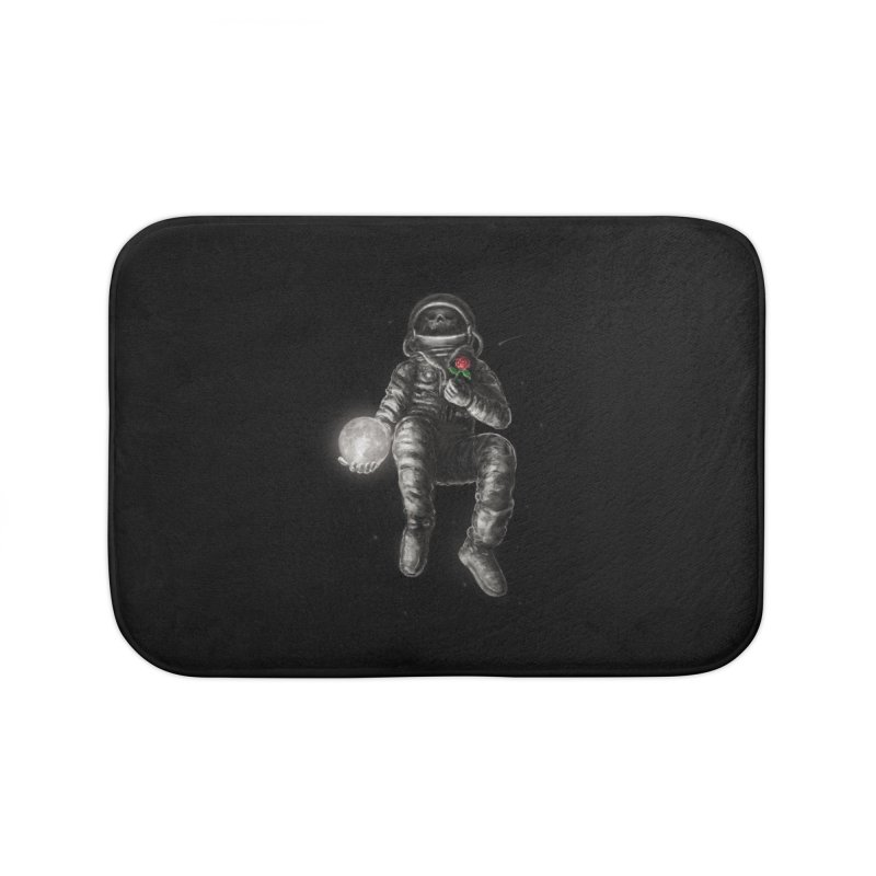 Moon and Back Home Bath Mat by nicebleed