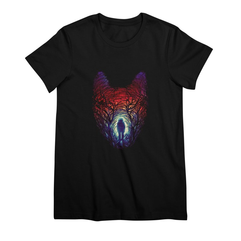Into The Woods Women's Premium T-Shirt by nicebleed