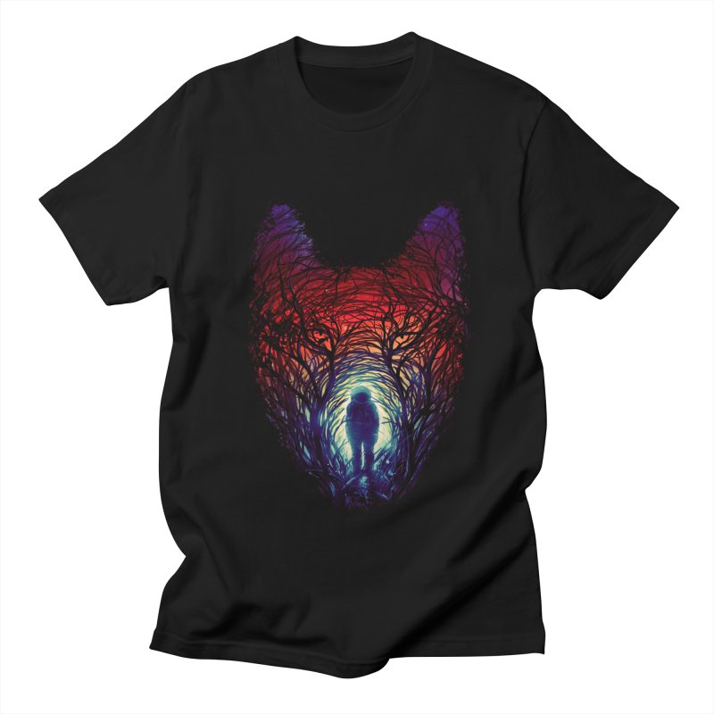 Into The Woods in Men's Regular T-Shirt Black by nicebleed