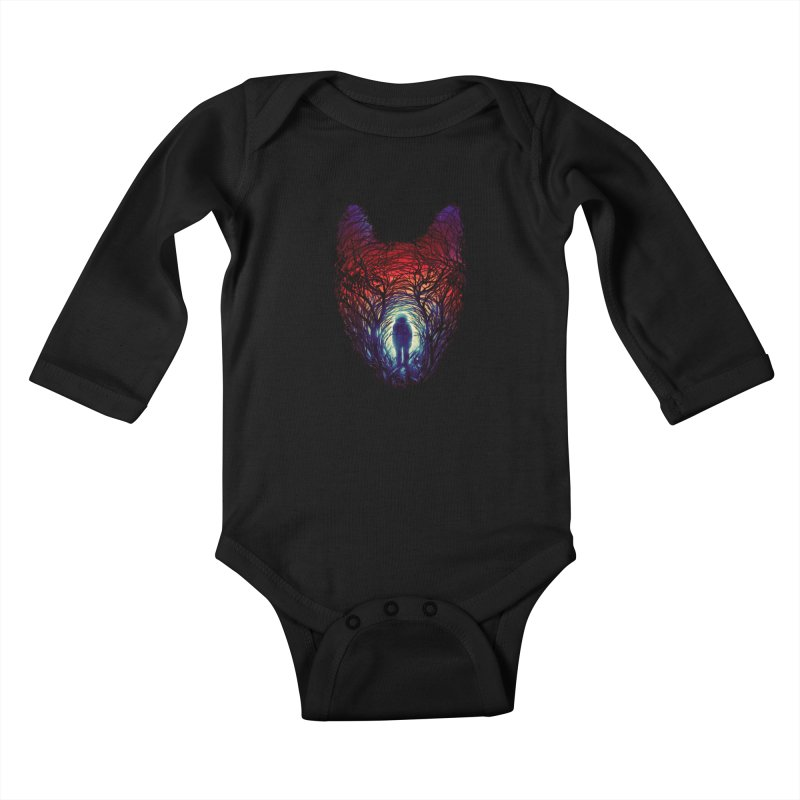 Into The Woods Kids Baby Longsleeve Bodysuit by nicebleed