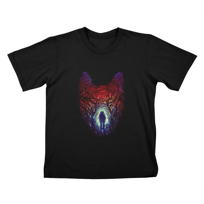 Into The Woods Kids T-Shirt by nicebleed