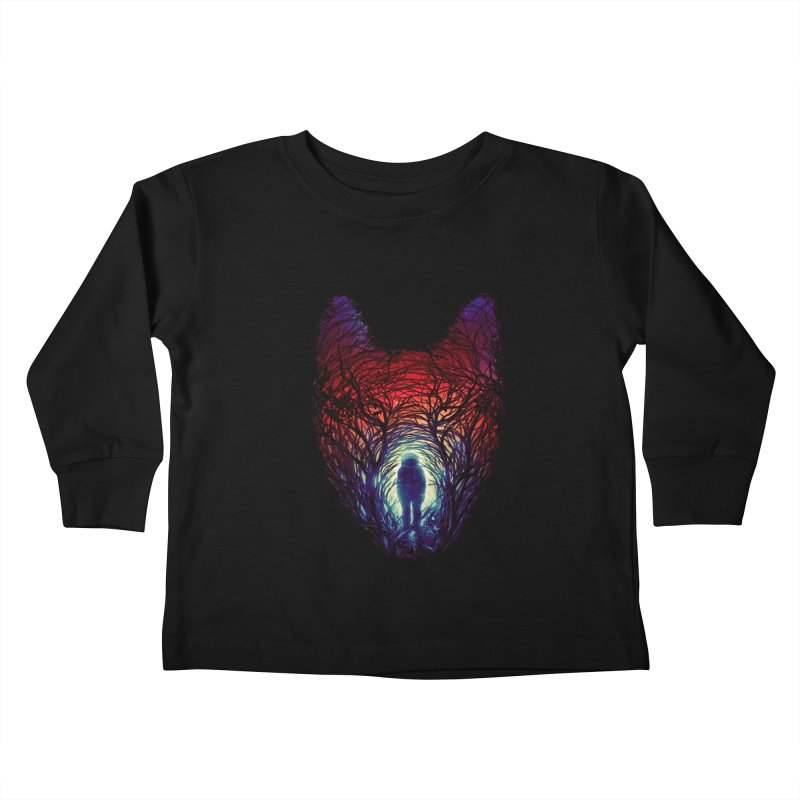 Into The Woods Kids Toddler Longsleeve T-Shirt by nicebleed