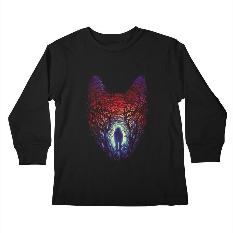 Into The Woods Kids Longsleeve T-Shirt by nicebleed